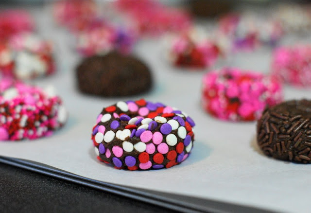 Chocolate Valentine Kiss Cookies Dough Dots