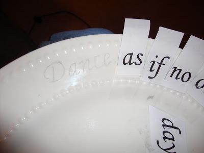 DIY Plate Stencil Craft