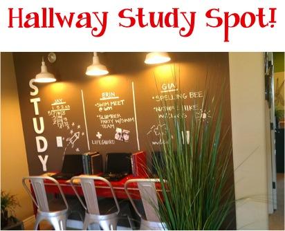 Hallway Study Spot at TheFrugalGirls.com