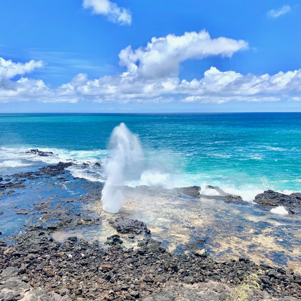 Spouting Horn Blowhole Kauai