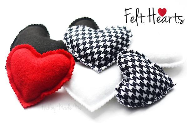Sweet Felt Hearts Craft DIY Garland