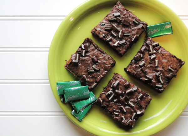 Andes Mint Brownies | TheFrugalGirls.com
