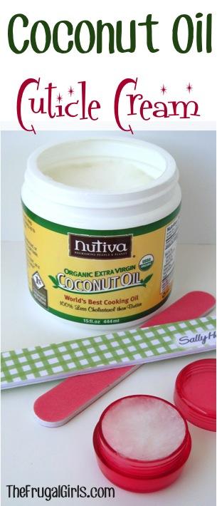 Coconut Oil Cuticle Cream at TheFrugalGirls.com