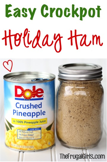 Easy Crockpot Holiday Ham Recipe from TheFrugalGirls.com