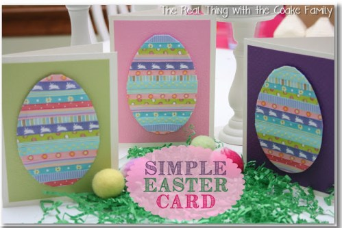 Cute Homemade Easter Cards Ideas at TheFrugalGirls.com