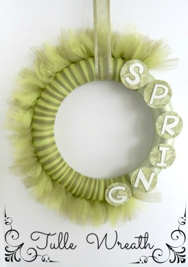 Spring Tulle-Wreath