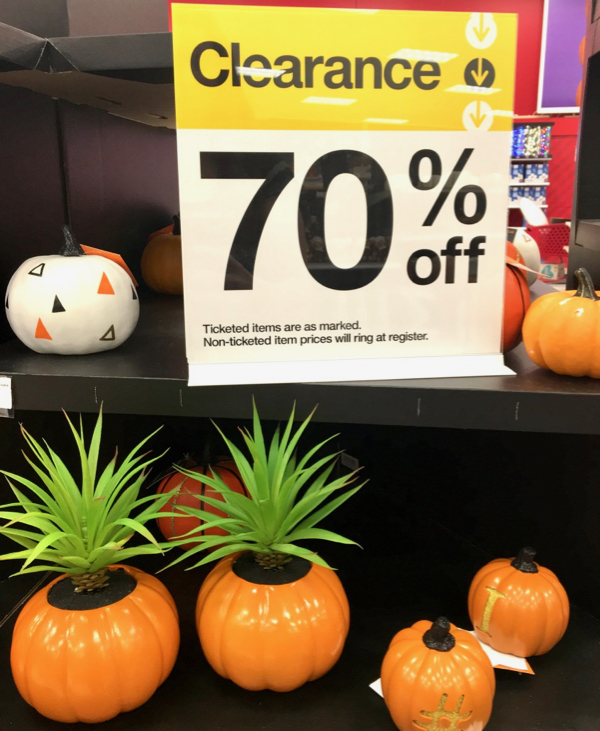 Target Fall Clearance