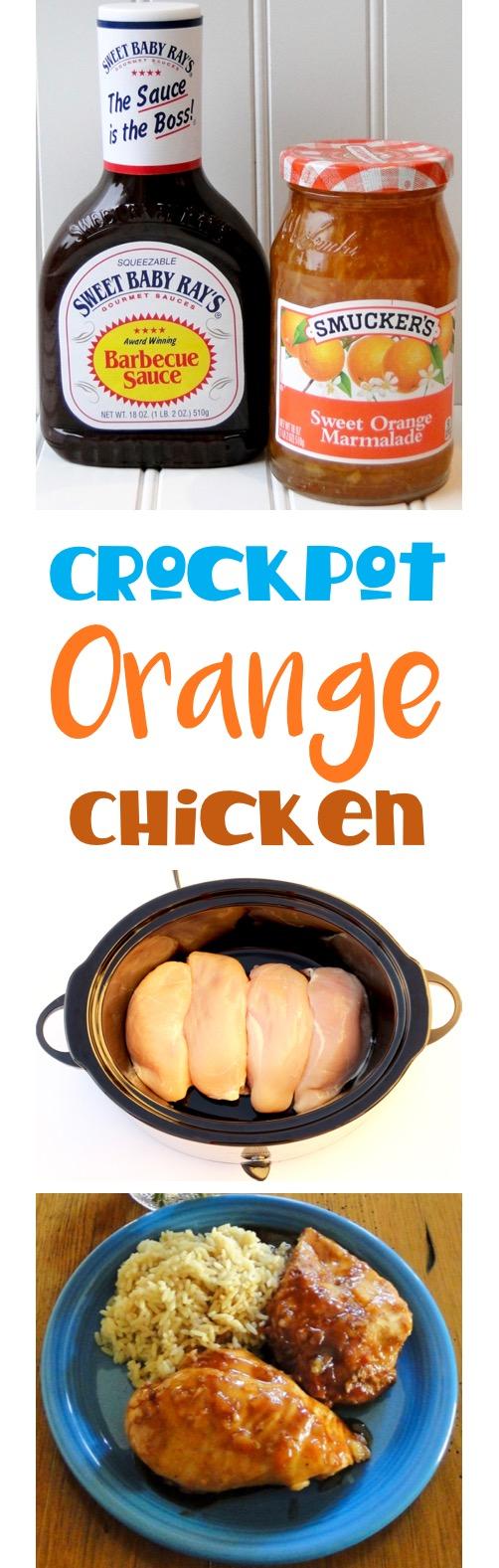 Crockpot Orange Chicken Recipe Easy 4 Ingredients from TheFrugalGirls.com