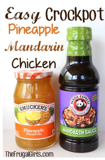 Crockpot Pineapple Mandarin Chicken Recipe - from The Frugal Girls