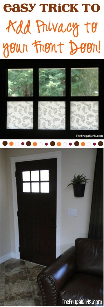 DIY Front Door Privacy Ideas at TheFrugalGirls.com