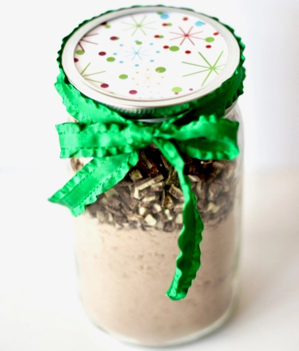 Andes Mint Cookies Recipe Gift in a Jar