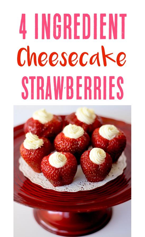 Cheesecake Stuffed Strawberries Recipe | TheFrugalGirls.com