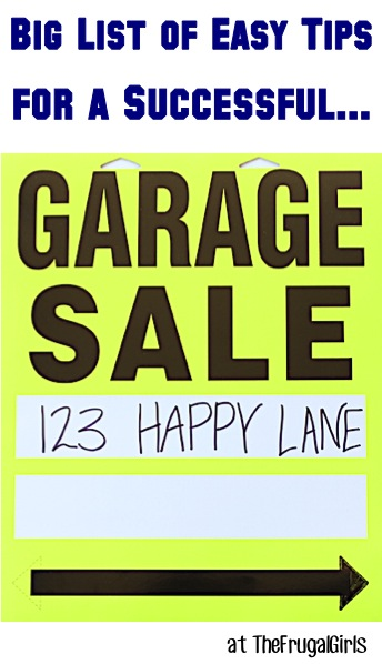 Garage Sale Tips and Tricks from TheFrugalGirls.com