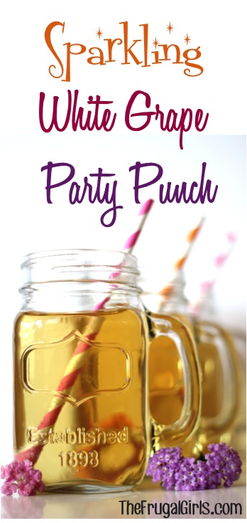 Sparkling White Grape Party Punch Recipe from TheFrugalGirls.com