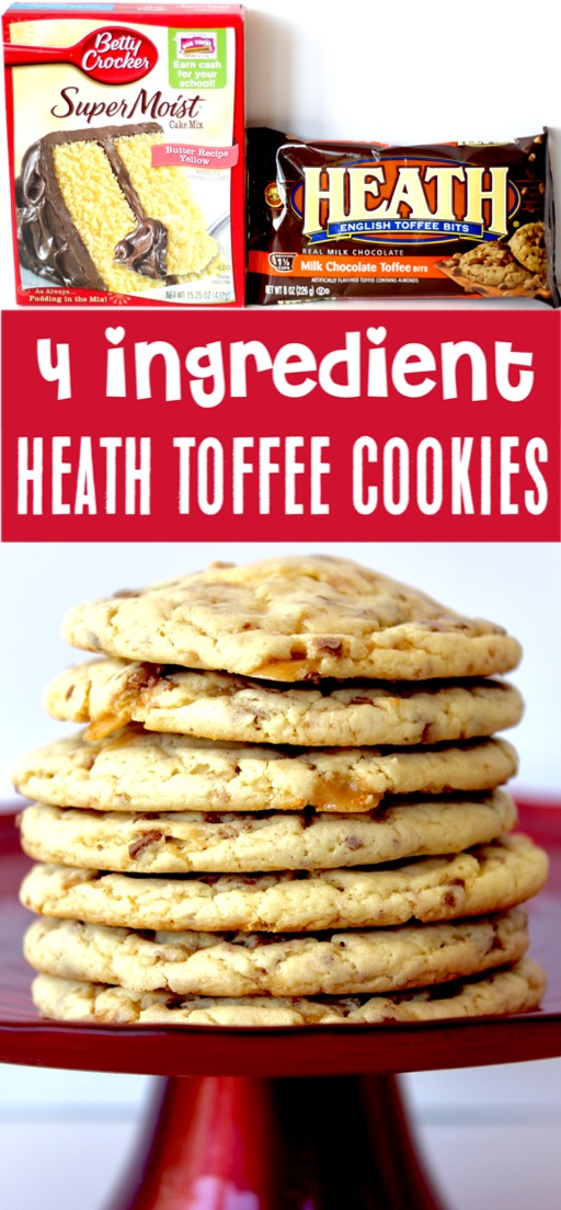 Cake Mix Cookies Recipes Easy Yellow Heath Toffee Cookie Recipe