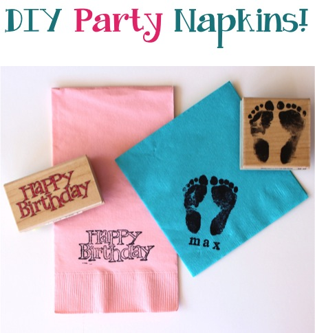 DIY Party Napkins from TheFrugalGirls.com