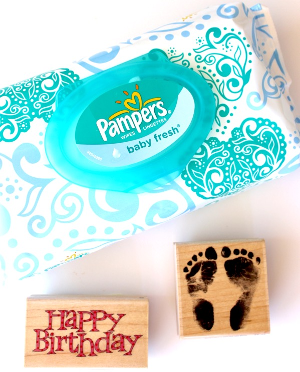 How to Clean Rubber Stamps with Baby Wipes