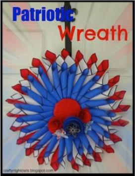 Patriotic Wreath Tutorial 2
