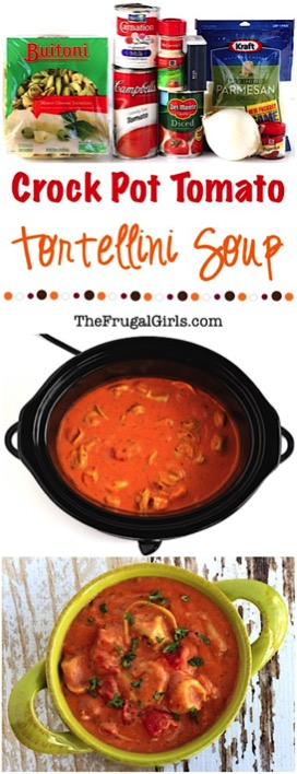 Crock Pot Tomato Tortellini Soup Recipe