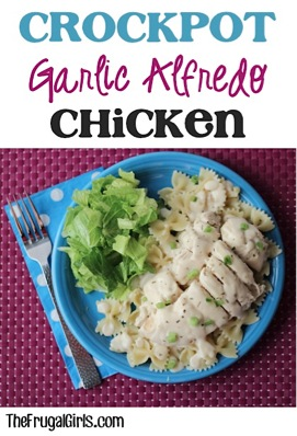 Crockpot Chicken Alfredo Chicken