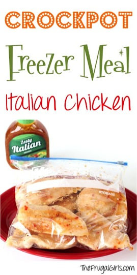 Crockpot Freezer Meal Recipe Italian Chicken