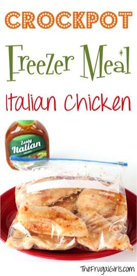 Crockpot Freezer Meal Recipe Italian Chicken