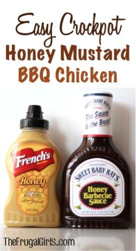 Crockpot Honey Mustard BBQ Chicken