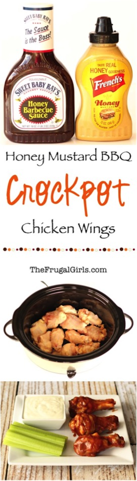 Crockpot Honey Mustard BBQ Wings Recipe