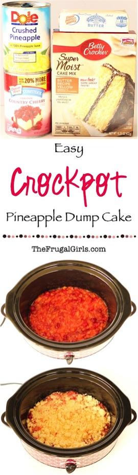 Crockpot Pineapple Dump Cake Recipe