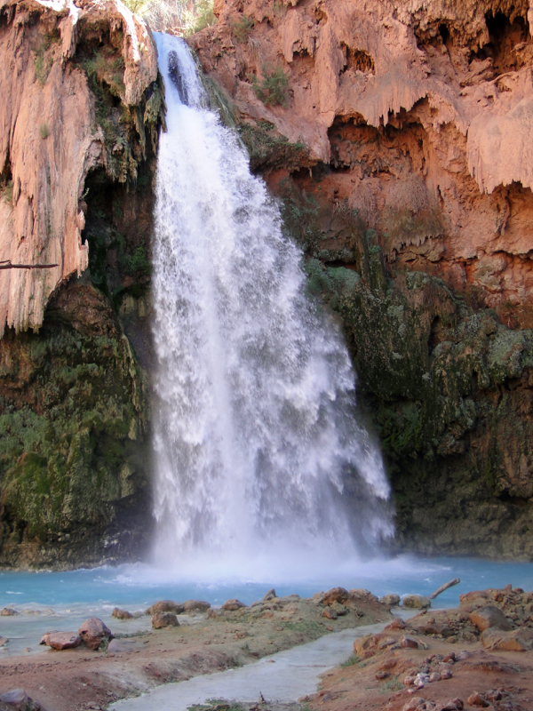 Havasu Falls, Supai Reservation in the Grand Canyon from TheFrugalGirls.com