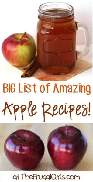 BIG List of Amazing Apple Recipes at TheFrugalGirls.com