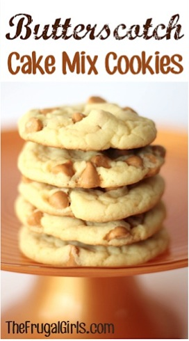 Butterscotch Cake Mix Cookie Recipe