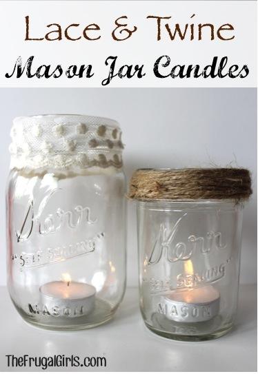 Mason Jar Candles Craft at TheFrugalGirls.com