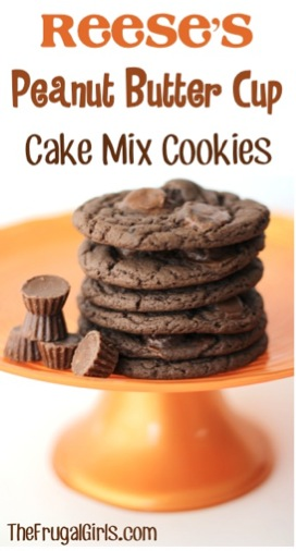 Reeses Peanut Butter Cup Cake Mix Cookies