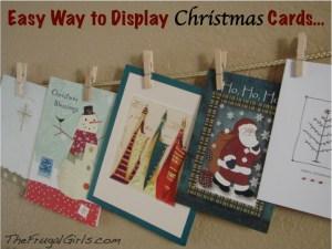 Christmas Cards Easy Way to Display