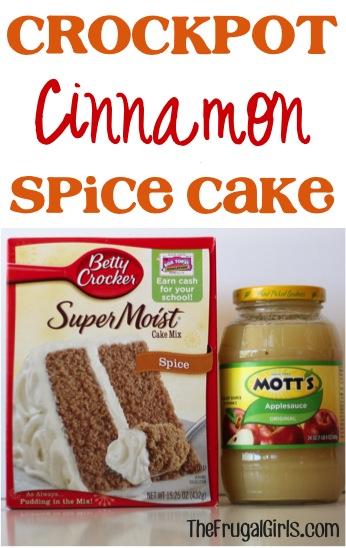 Crockpot Cinnamon Spice Cake Recipe - from TheFrugalGirls.com