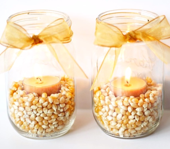 Fall Mason Jar Candles Quick And Easy To Make The Frugal Girls