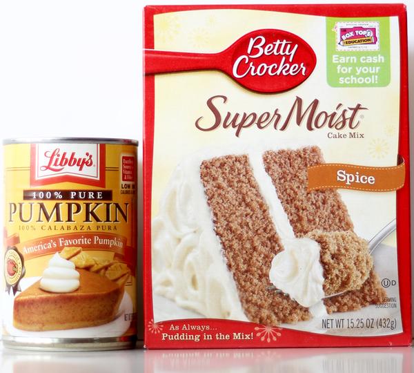 Pumpkin Spice Muffins 2 Ingredients