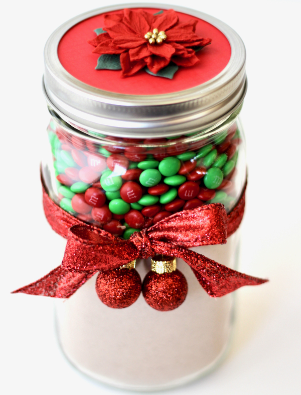 Christmas M&M Cookies in a Jar