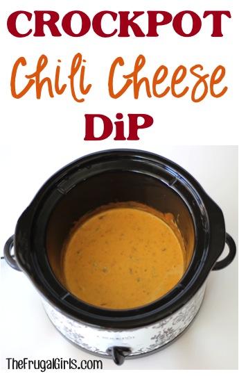 Crockpot Chili Cheese Dip Recipe at TheFrugalGirls.com
