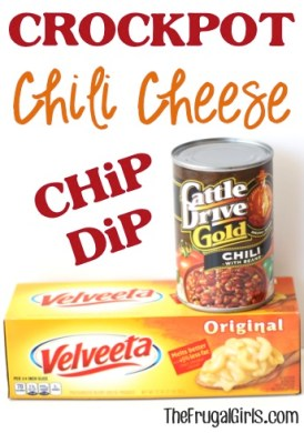 Crockpot Chili Cheese Dip Recipe from TheFrugalGirls.com