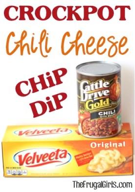 Crockpot Chili Cheese Dip Recipe from TheFrugalGirls.com