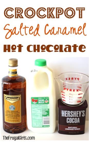 Crockpot Salted Caramel Hot Chocolate Recipe at TheFrugalGirls.com