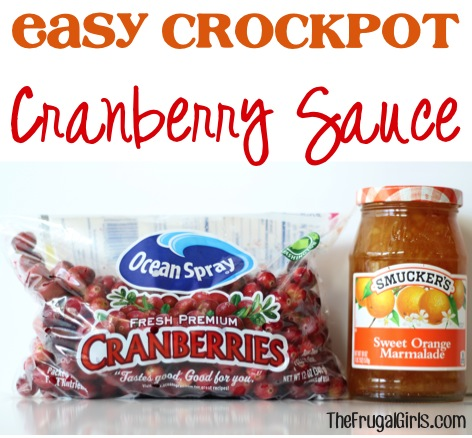 Easy Crockpot Cranberry Sauce Recipe from TheFrugalGirls.com