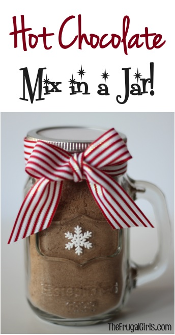 Homemade Hot Chocolate Mix Recipe in a Jar at TheFrugalGirls.com