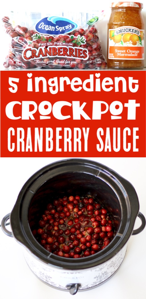 Thanksgiving Recipes Easy Homemade Crockpot Cranberry Sauce Recipe