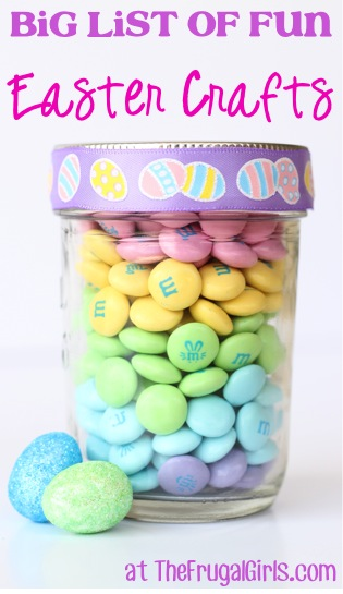 BIG List of Fun Easter Crafts at TheFrugalGirls.com