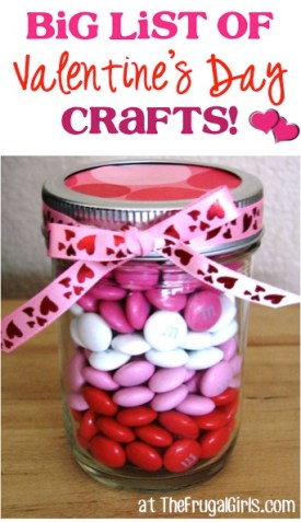BIG List of Valentine's Day Crafts from TheFrugalGirls.com