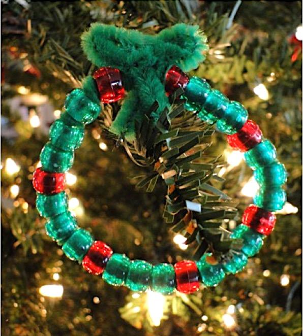 Christmas Wreath Bead Ornaments