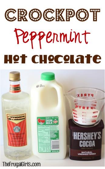 Crockpot Peppermit Hot Chocolate Recipe at TheFrugalGirls.com